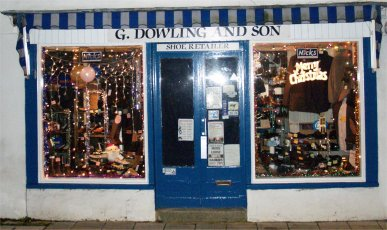 G Dowling & Son's windows left