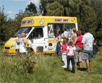 queues for ice cream