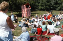 Children watching Punch & Judy